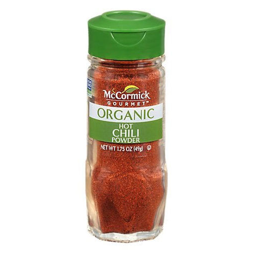 Picture of McCormick Gourmet Organic Chili Powder Hot Mexican - 1.75 Oz