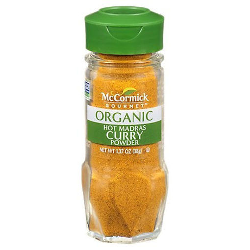 Picture of McCormick Gourmet Organic Curry Powder Hot Madras - 1.37 Oz