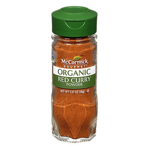 Picture of McCormick Gourmet Organic Curry Powder Red - 1.37 Oz