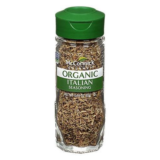 Picture of McCormick Gourmet Organic Italian Seasoning - 0.55 Oz