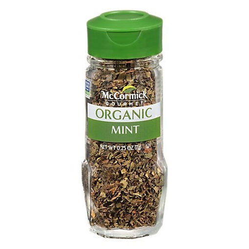 Picture of McCormick Gourmet Organic Mint - 0.25 Oz