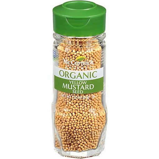 Picture of McCormick Gourmet Organic Mustard Seed Yellow - 2.12 Oz