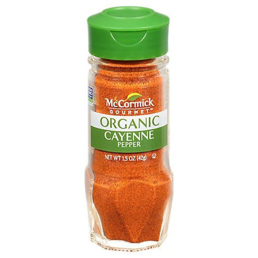 Picture of McCormick Gourmet Organic Pepper Cayenne - 1.5 Oz
