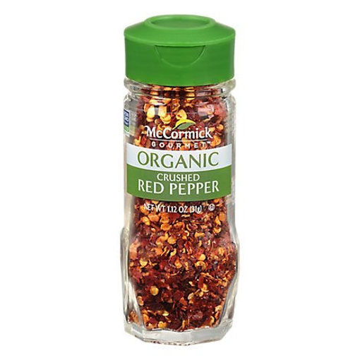 Picture of McCormick Gourmet Organic Red Pepper Crushed - 1.12 Oz