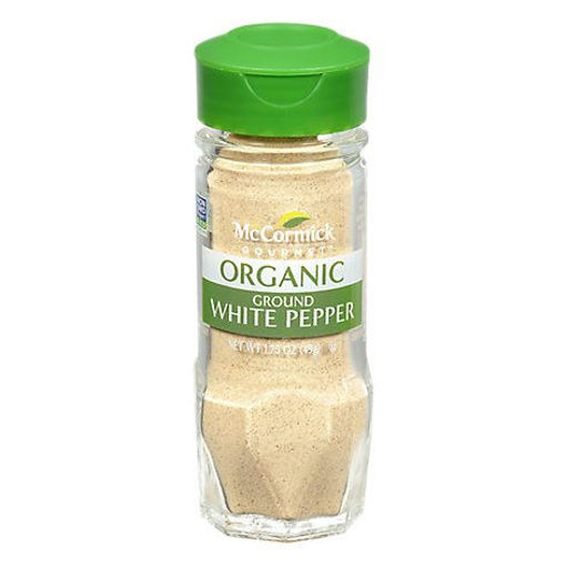 Picture of McCormick Gourmet Organic White Pepper Ground - 1.75 Oz