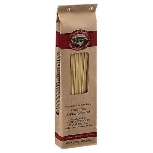 Picture of Montabello Pasta Organic Spaghetti Bag - 16 Oz