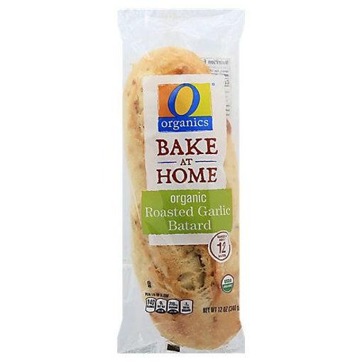 Picture of Organic Bread Batard Roasted Garlic - Each