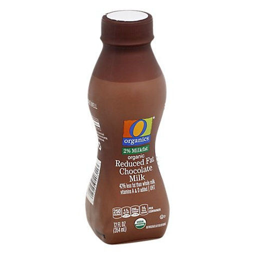 Picture of Organic Milk Chocolate Reduced Fat 2% Ultra Pasteurized - 12 Fl. Oz.