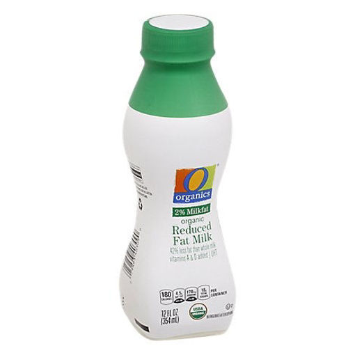 Picture of Organic Milk Reduced Fat 2% Ultra Pasteurized - 12 Fl. Oz.