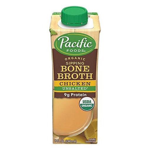 Picture of Pacific Organic Bone Broth Chicken Original - 8 Fl. Oz.