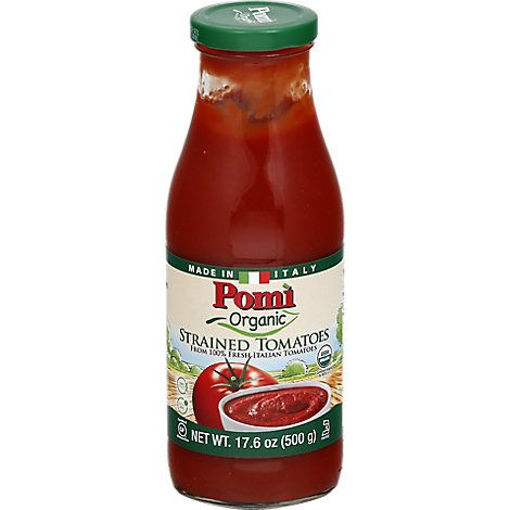 Picture of Pomi Organic Tomatoes Strained - 17.6 Oz