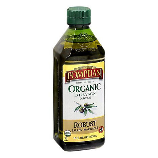 Picture of Pompeian Olive Oil Organic Extra Virgin Full-Bodied Flavor - 16 Fl. Oz.