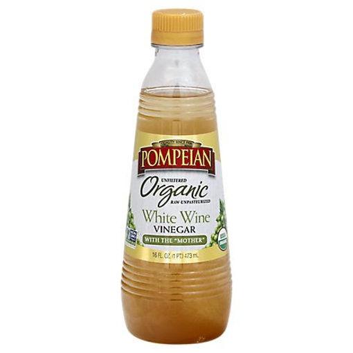 Picture of Pompeian Organic White Wine Vinegar - 16 Oz