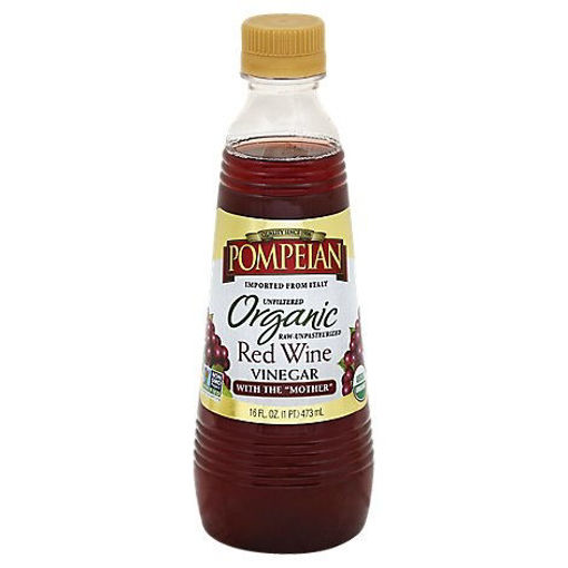 Picture of Pompeian Vinegar Organic Red Wine Unfiltered - 16 Fl. Oz.