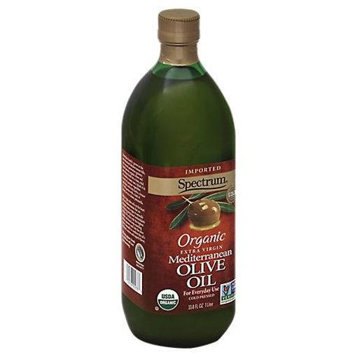Picture of Spectrum Olive Oil Organic Extra Virgin Mediterranean - 33.8 Fl. Oz.