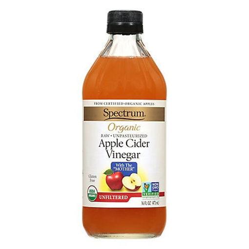 Picture of Spectrum Organic Vinegar Apple Cider Unfiltered - 16 Fl. Oz.