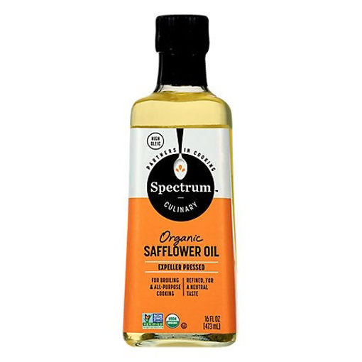 Picture of Spectrum Safflower Oil Organic Refined - 16 Fl. Oz.