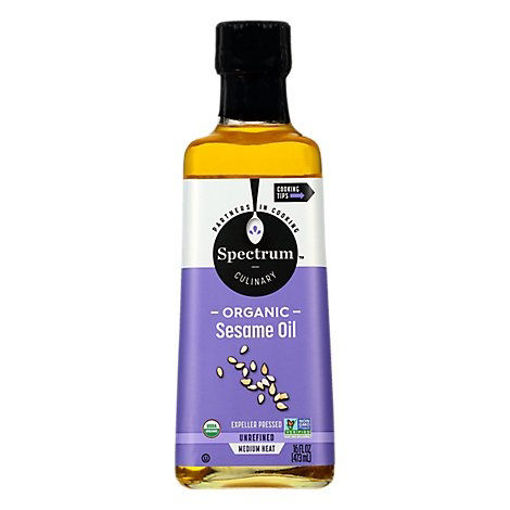 Picture of Spectrum Sesame Oil Organic Medium Heat Unrefined - 16 Fl. Oz.
