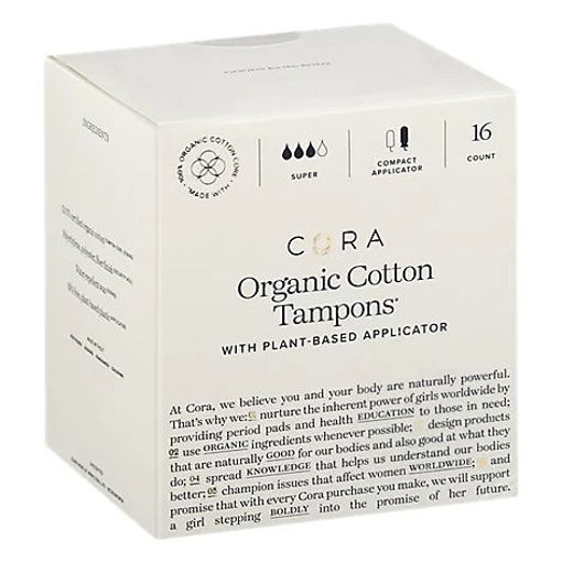 Picture of Cora Tampons Premium Organic Cotton With Compact Applicators Super - 16 Count
