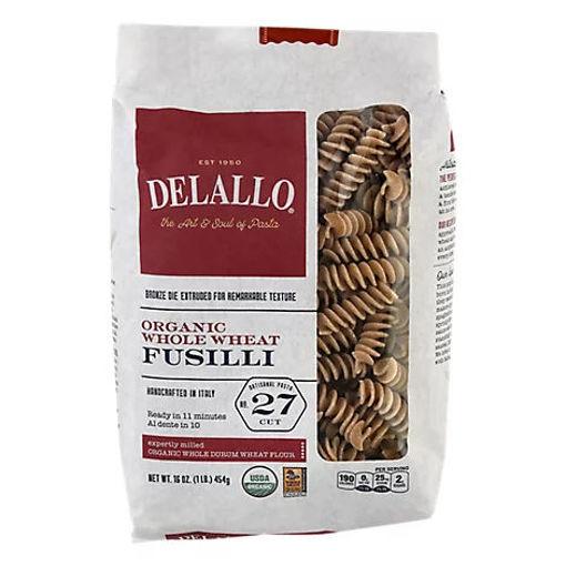 Picture of DeLallo Pasta Organic 100% Whole Wheat No. 27 Fusilli Bag - 16 Oz