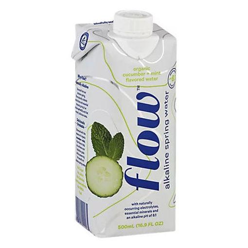 Picture of Flow Organic Water Alkaline Spring Cucumber + Mint - 16.9 Fl. Oz.