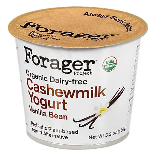 Picture of Forager Project Organic Yogurt Alternative Cashewmilk Dairy Free Vanilla Bean - 5.3 Oz