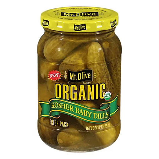 Picture of Fr Organic Kosher Baby Dills - 16 Fl. Oz.