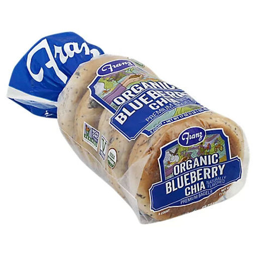 Picture of Franz Organic Blueberry Chia Bagels - 17 Oz