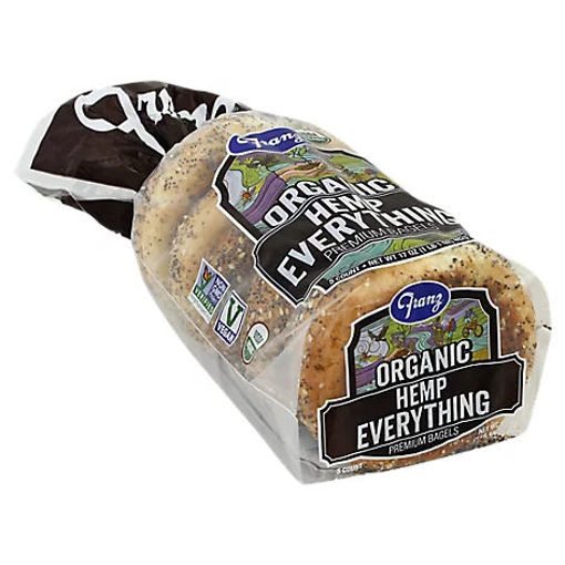 Picture of Franz Organic Everything Hemp Bagels - 17 Oz