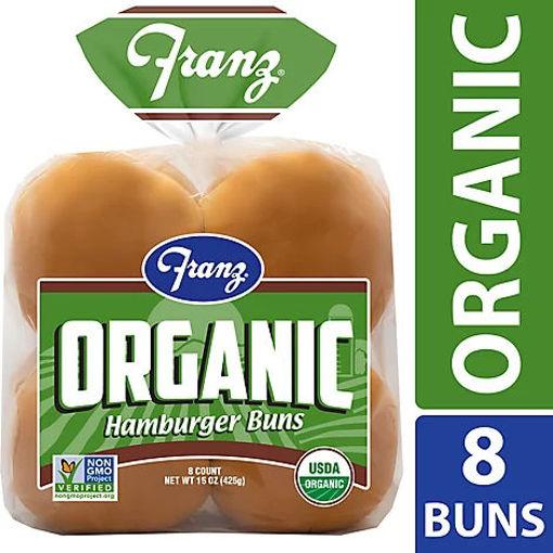 Picture of Franz Organic Hamburger Buns 8 Count - 15 Oz
