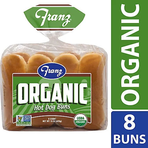 Picture of Franz Organic Hot Dog Buns 8 Count - 15 Oz