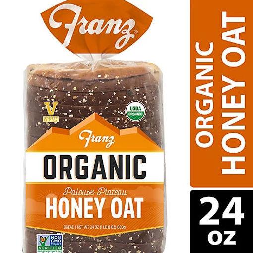 Picture of Franz Organic Sandwich Bread Palouse Plateau Honey Oat - 24 Oz