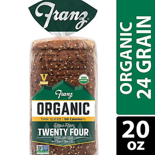 Picture of Franz Organic Sandwich Bread Rogue River Twenty Four Grain and Seed - 20 Oz