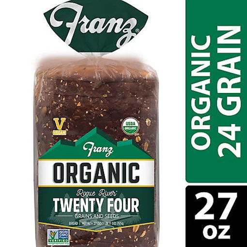 Picture of Franz Organic Sandwich Bread Rogue River Twenty Four Grain - 27 Oz