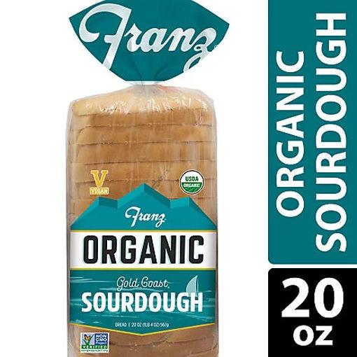 Picture of Franz Organic Sandwich Bread Thin Sliced Gold Coast Sourdough Bread - 20 Oz