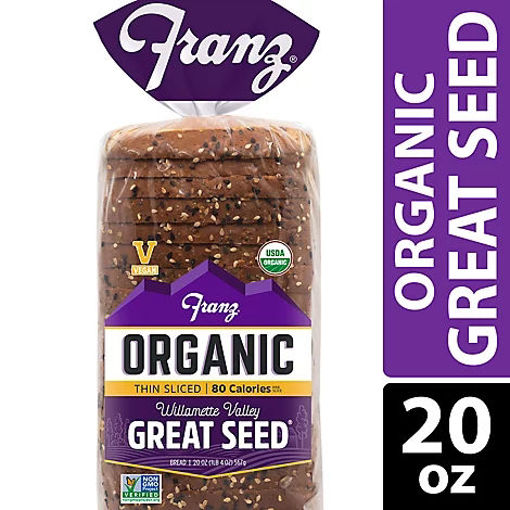 Picture of Franz Organic Sandwich Bread Thin Sliced Willamette Valley Great Seed - 20 Oz
