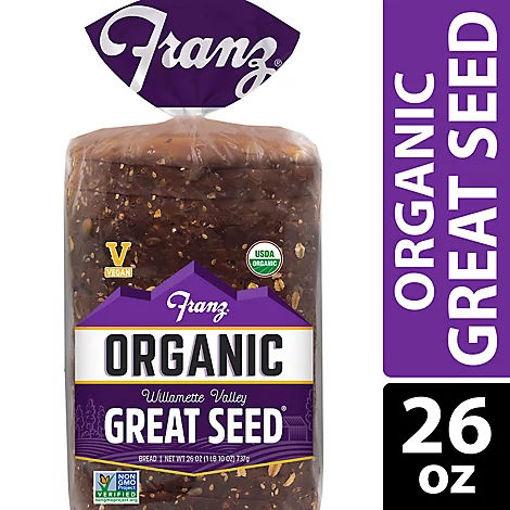 Picture of Franz Organic Sandwich Bread Willamette Valley Great Seed - 26 Oz