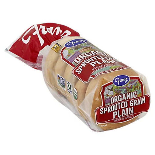 Picture of Franz Organic Sprouted Grain Plain Bagel 5ct - 17 Oz