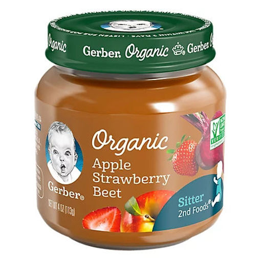 Picture of Gerber 2nd Foods Baby Food Organic Apple Strawberry Beet Jar - 4 Oz