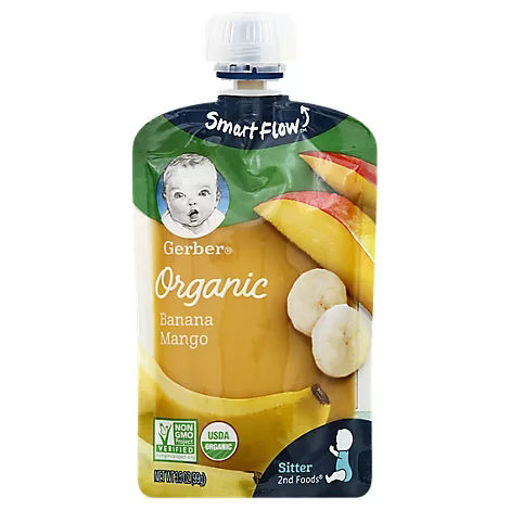 Picture of Gerber 2nd Foods Baby Food Sitter Organic Banana Mango - 3.5 Oz