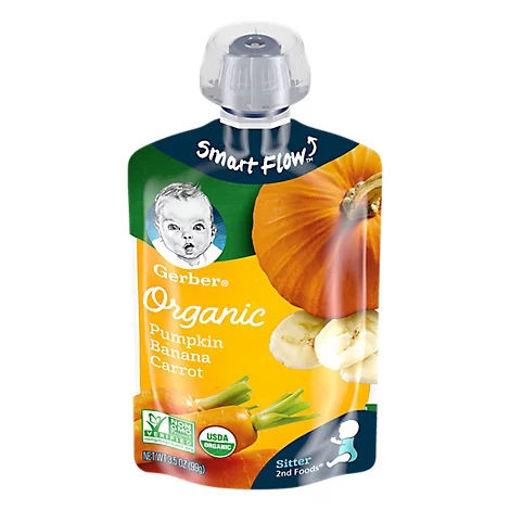 Picture of Gerber 2nd Foods Baby Food Sitter Organic Pumpkin Banana Carrot - 3.5 Oz