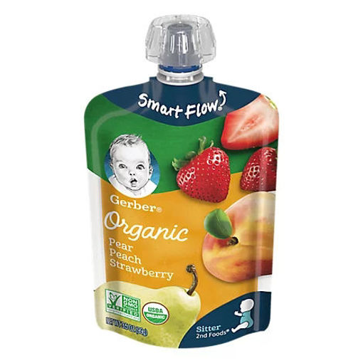 Picture of Gerber 2nd Foods Baby Food Sitter Organic Pear Peach Strawberry - 3.5 Oz