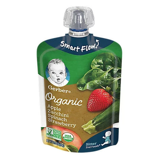 Picture of Gerber 2nd Foods Baby Food Sitter Organic Apple Zucchini Spinach Strawberry - 3.5 Oz