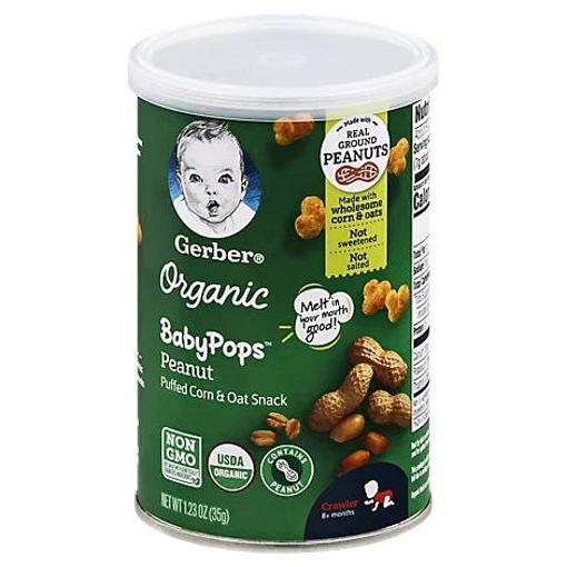 Picture of Gerber Babypops Organic Peanut Corn - 1.23 OZ