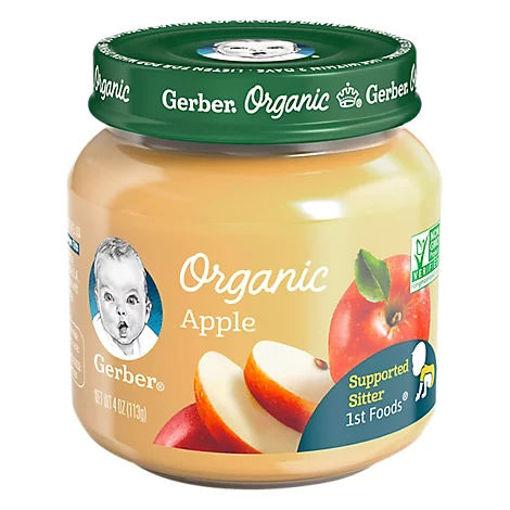 Picture of Gerber Organic 1st Foods Baby Food Apple Jar - 4 Oz