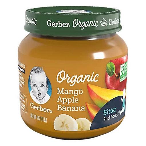 Picture of Gerber Organic 2nd Foods Baby Food Mango Apple Banana - 4 Oz