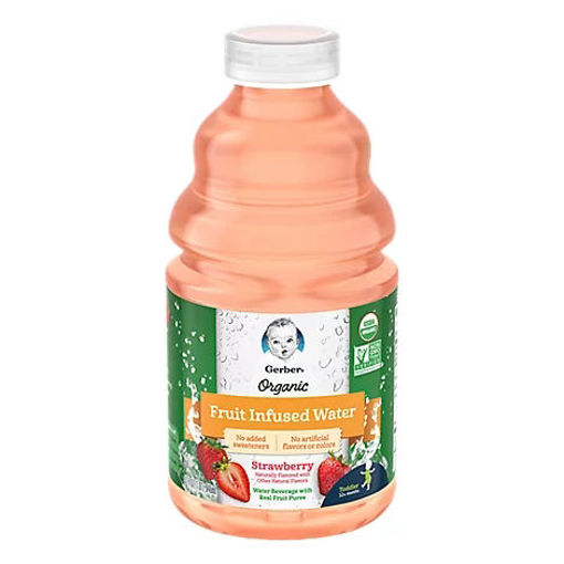 Picture of Gerber Organic Fruit Infused Water Strawberry - 32 FZ