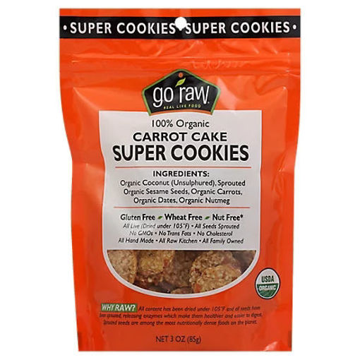 Picture of Go Raw 100% Organic Carrot Cake Super Cookies - 3 Oz