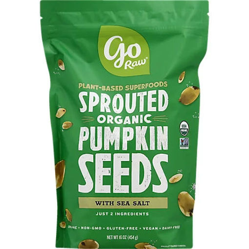 Picture of Go Raw 100% Organic Sprouted Celtic Sea Salt Pumpkin Seeds - 1 Lb