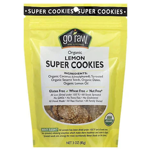 Picture of Go Raw Organic Lemon Super Cookies - 3 Oz
